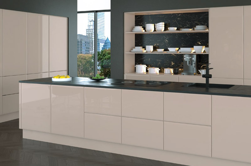 High Gloss Cashmere replacement kitchen doors