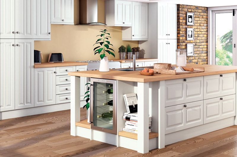 Satin White replacement kitchen doors